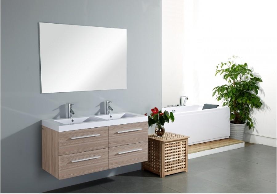 Old meuble double vasque saturn 120cm fr for Meuble de baignoire