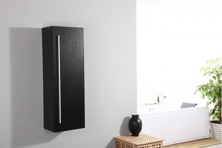 Colonne uranus noire meuble de salle de for Meuble sanitaire