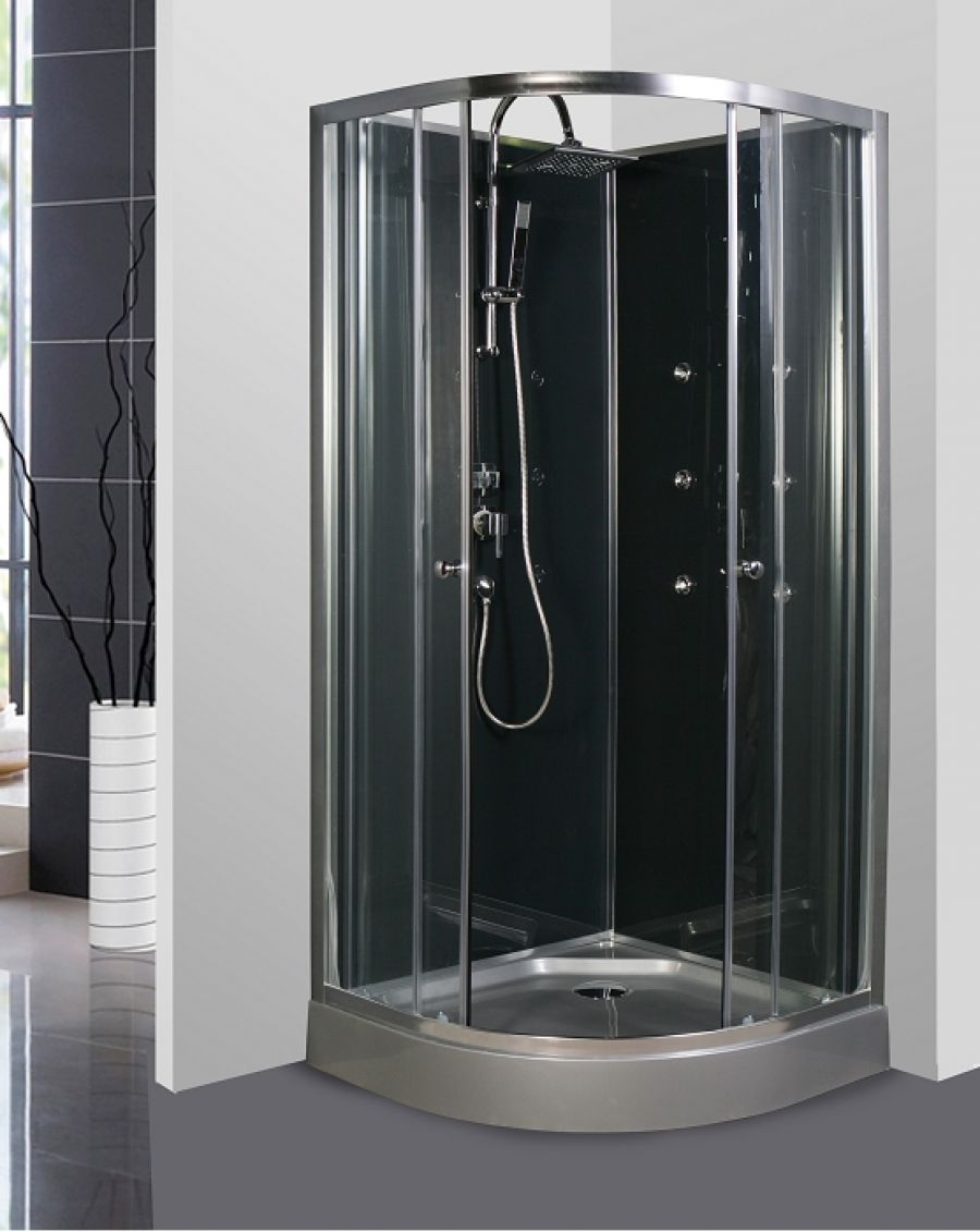 cabine de douche 1 4 rond 90cm meuble de salle de bain douche baignoire. Black Bedroom Furniture Sets. Home Design Ideas