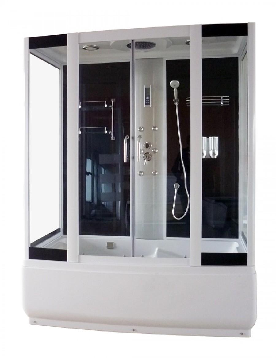 Combin bain douche rectangulaire meuble de salle de bai - Baignoire douche combine ...