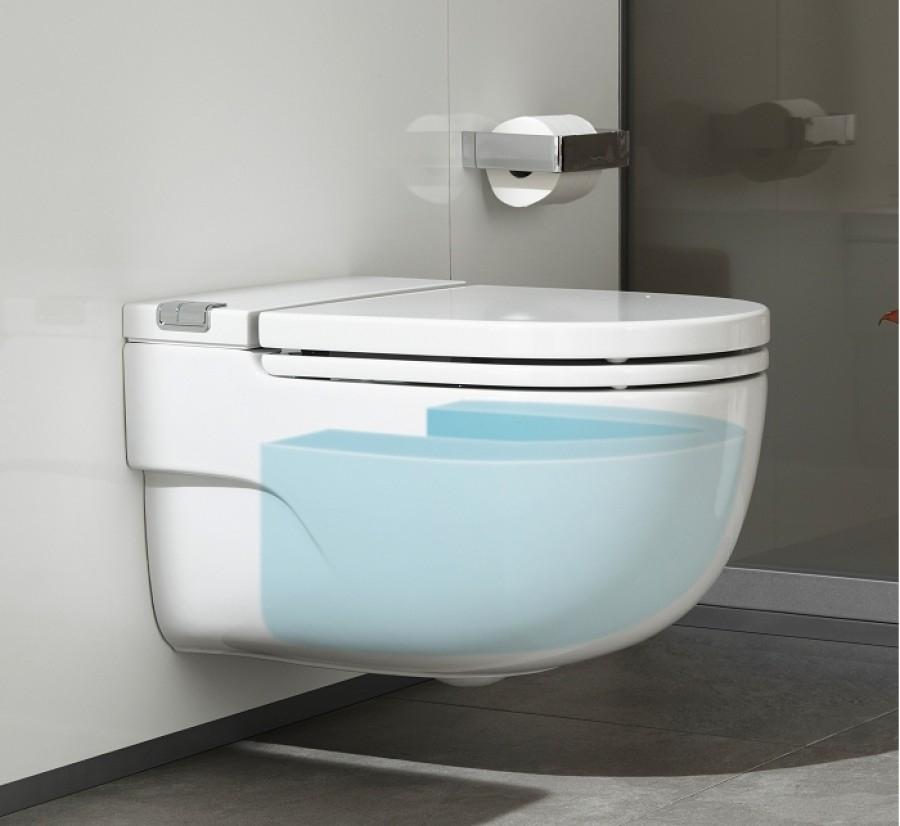 Cuvette suspendue avec r servoir int gr pour cloison for Meuble sanitaire wc