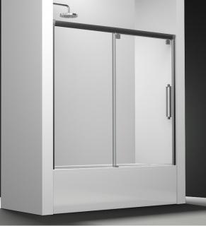 paroi de baignoire transparent 1 panneau coulissant 150cm version droite. Black Bedroom Furniture Sets. Home Design Ideas