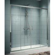 Porte coulissante Zephyros 2A 150cm verre Transparent, profilés Silver