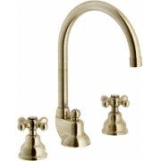 Mélangeur lavabo 3 trous rétro vieux bronze Grazia GRC5012/1BR