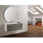 Meuble simple vasque PARIGI 121 cm - Tranche Grigio - Compo 10