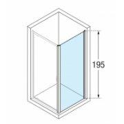 Paroi fixe latérale LUNES 2.0 F 100 cm - Transparent - Silver