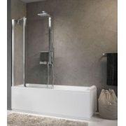 Pare-baignoire 1 porte pivotante + 1 fixe AURORA 3 Transparent