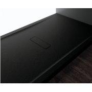 Receveur rectangulaire CUSTOM TOUCH Noir - Hauteur 3.5 cm - 100x80 cm
