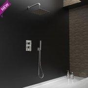 Ensemble bain-douche encastré BLAUTHERM douche de tête carré