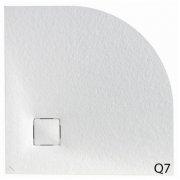 Receveur 1/4 de rond MALENKE Cover Extra-plat - Blanc - 80x80cm