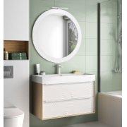 Meuble simple vasque ORIGAMI Onde Blanc Mat 90 cm