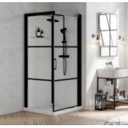 Cabine de douche BROOKLYN FACTORY 90x90 cm - Porte pivotante