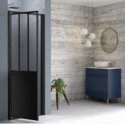 Porte de douche pivotante LOFT Steel 80 cm - Version Gauche