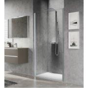Porte de douche pivotante YOUNG PLUS - Profilé Silver - 80 cm