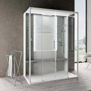 Cabine de douche multifonction SKILL DUAL Perla 160x97 cm