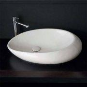Vasque à poser Moai 71 blanche Scarabeo 8601