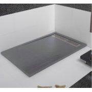 Receveur de douche écoulement linéaire Andromède Ciment 70x80