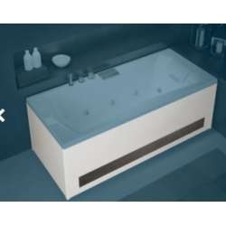 Tablier Façade en Bi-matière (Verre Graphite) baignoires Kinédo - L180 cm