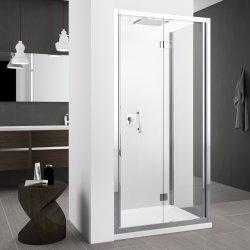 Porte pliante Zephyros S 70cm verre Transparent, profilé Silver