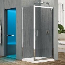 Porte pivotante Zephyros G 70cm verre Transparent, profilés Silver