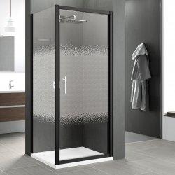 Porte pivotante Zephyros G 70cm verre Transparent, profilés Noir