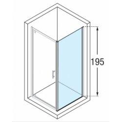 Paroi fixe Zephyros F 100cm verre Transparent profilé Silver