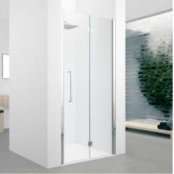 Porte pivotante et pliante Young 2.0 1BS 60cm Transparent Silver Droite