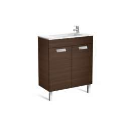 Meuble simple vasque Debba Compact 70cm Wengé 2 portes