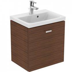 Meuble simple vasque 50cm Noyer Connect Space