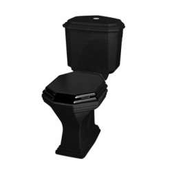 Pack WC rétro noir Ascott sortie duale