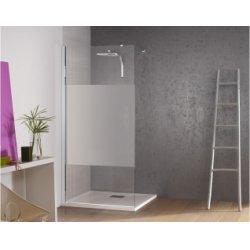 Paroi de douche fixe Kinespace Solo avec bande centrale dépolie 70 cm