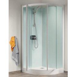 Cabine de douche Kineprime Glass faible hauteur - Pivotante - 1/4 de Rond 80cm