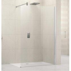 Paroi de douche fixe Lunes H 60 cm - Transparent - Silver