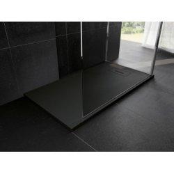 Receveur Extraplat NOVOSOLID Noir Mat 80x80 cm