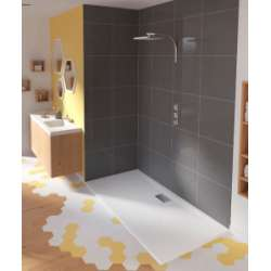 Receveur rectangulaire en Biocryl Kinesurf Blanc extra-plat - 70x90