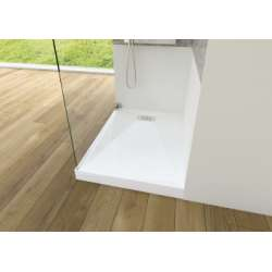 Receveur rectangle 70x120 en Biocryl Kinesurf Blanc LA