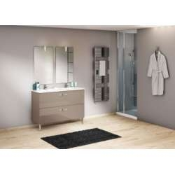 Meuble double vasque 120 cm CHANGO Cristal Argile