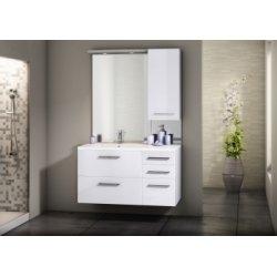 Meuble simple vasque INTEGRALE 105 cm Cristal Blanc