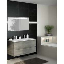 Meuble simple vasque 120 cm RIVAGE Sciée Gris