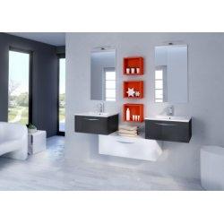Ensemble de meubles SWING Cristal anthracite et Blanc