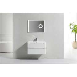 Meuble simple vasque 80cm TOOLA Ivoire sans miroir