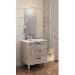 Meuble simple vasque TRENDY Cristal Argile