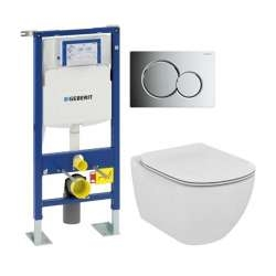 Pack WC Geberit UP320 + Cuvette AquaBlade TESI + Sigma Chromé Brillant