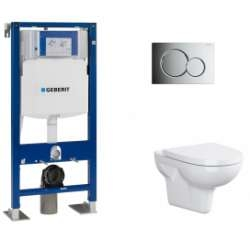 Pack WC Geberit UP320 + Cuvette sans bride Velvet + plaque Sigma CHR brillante