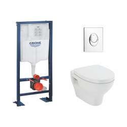 Pack WC Grohe Rapid SL + Cuvette POP2 + Plaque Chromée