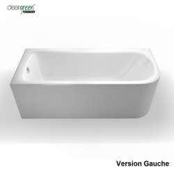 Baignoire d'angle VIRIDE Cleargreen 170 cm - Version Gauche