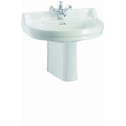 Vasque ronde et demi-colonne Edouardien BURLINGTON