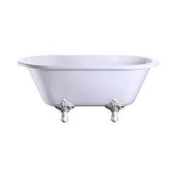 Baignoire Windsor BURLINGTON 150 cm - Pied traditionnel Chromé