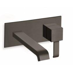 Mitigeur lavabo mural BLACKMAT Quadri - Saillie 180 mm - ONDYNA