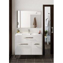 Meuble simple vasque à poser BROOKLYN - Blanc Brillant